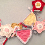 Boy girl shared bedroom crochet star bunting