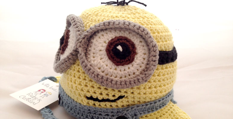 A minion hat…or yellow alien hat…?
