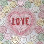 Valentine Love Heart Sweet Pattern