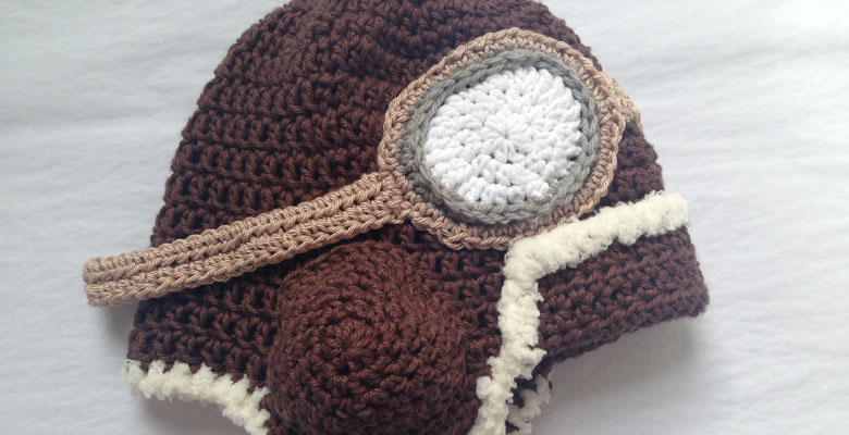 Crochet Aviator helmet hat